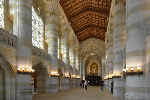A View of the Nave at Sterling Memorial Library